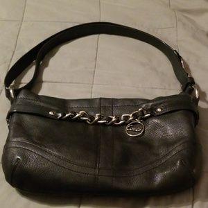 Used leather Coach purse